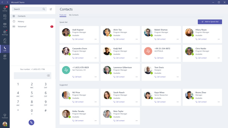 Tech Project Example: Calling in Microsoft Teams